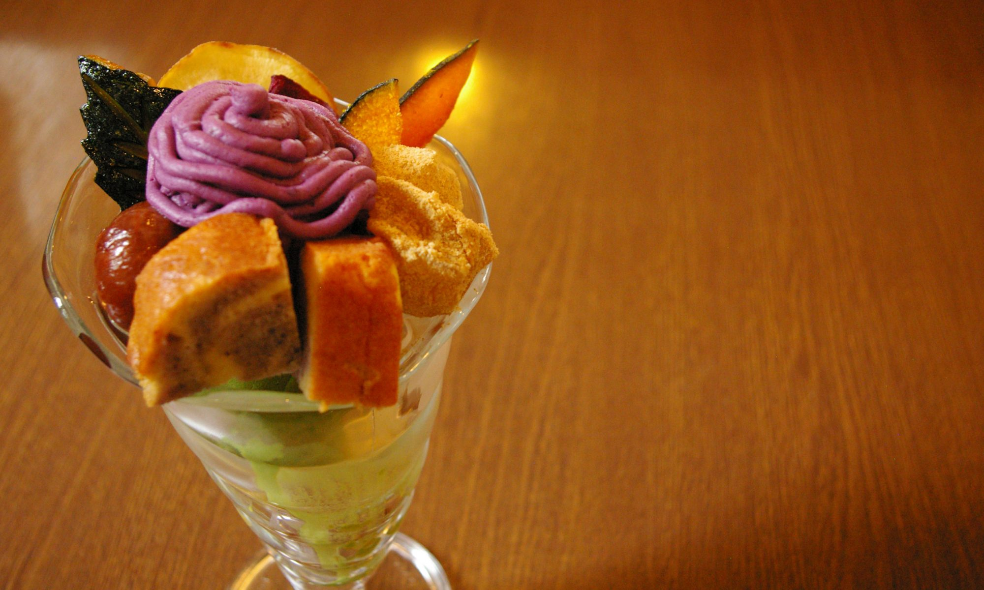 季節限定 芋栗かぼちゃの抹茶パフェ